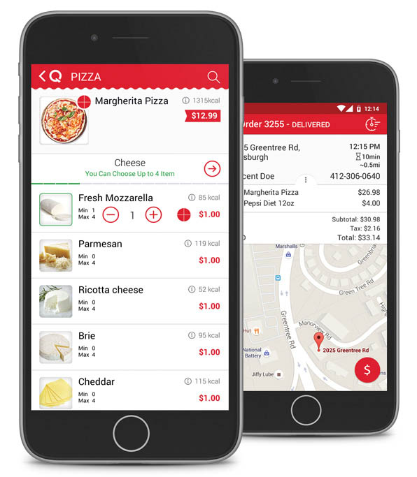 Qwickserve Ordering and Delivery Mobile Apps