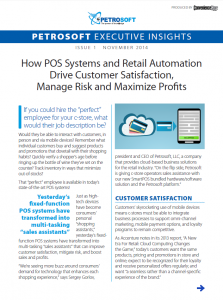 How POS Systems and Retail Automation Drive Customer Satisfaction, Manage Risk and Maximize Profits