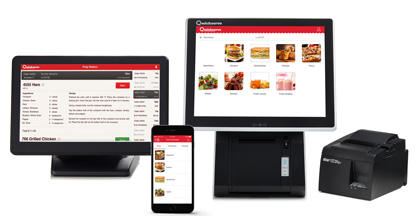 Qwickserve is a foodservice made-to-order self-service kiosk for quick service and fast casual restaurants
