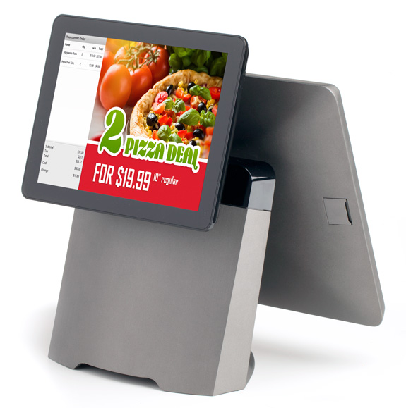 SmartPOS 400 Customers Screen Pizza Promotion
