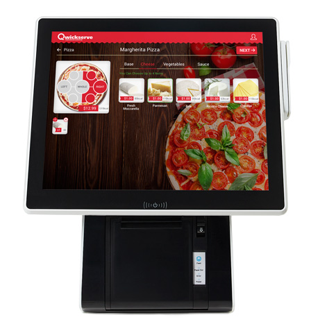 Foodservice Retailers' Customer Made-to-order Self-service Kiosk Solution from Qwickserve