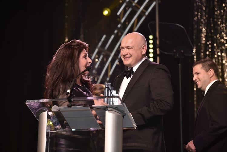 Segey Gorlov accepts an award of EY Entrepreneur of the Year 2016