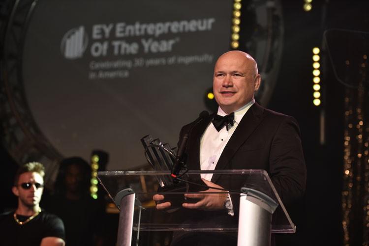 Sergey Gorlov durante un discurso en EY Entepreneur 2016