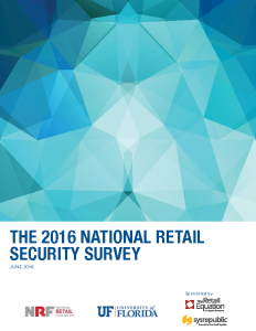 NRF 2016 NATIONAL RETAIL SECURITY SURVEY